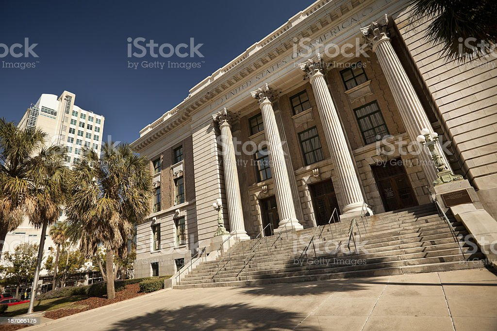 Courthouse in Tampa Bay Florida royalty-free stock photo