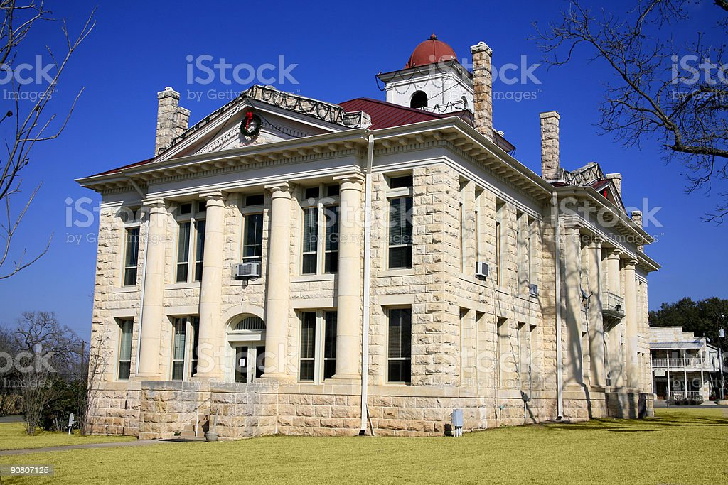 Courthouse in Texas royalty-free stock photo