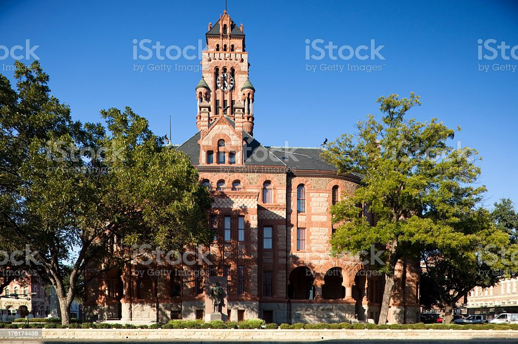 Courthouse in Waxahachie, Texas royalty-free stock photo
