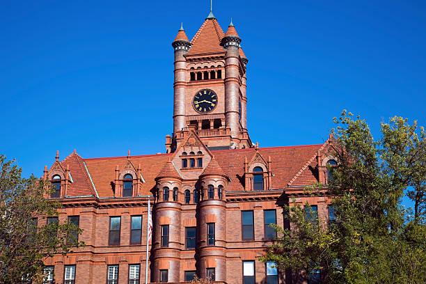 Courthouse in Wheaton stock photo