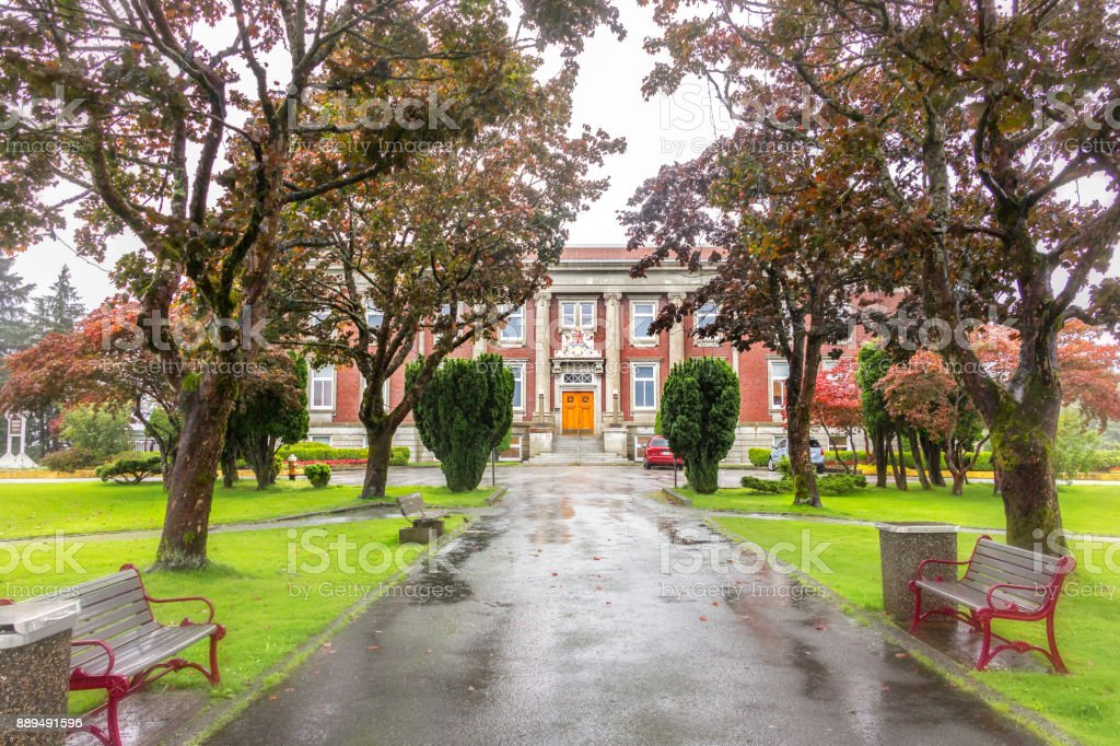 Courthouse Of Prince Rupert, Canada. stock photo