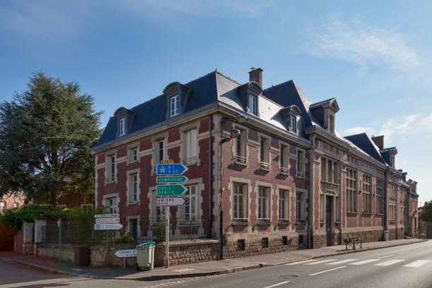 Courthouse of Péronne stock photo