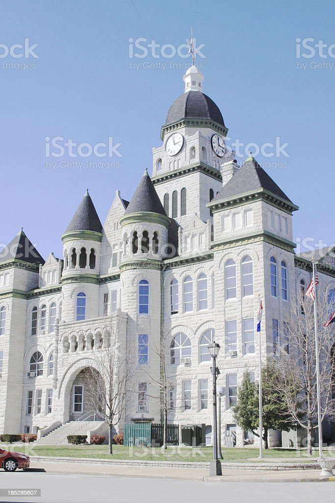 Courthouse on Town Square, Carthage, Missouri royalty-free stock photo