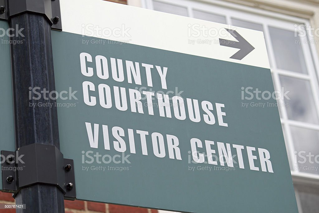 Courthouse Sign 2 stock photo
