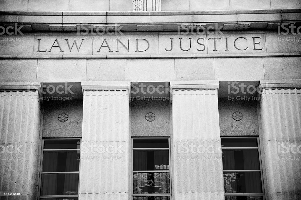 A courthouse symbolising law and justice  royalty-free stock photo
