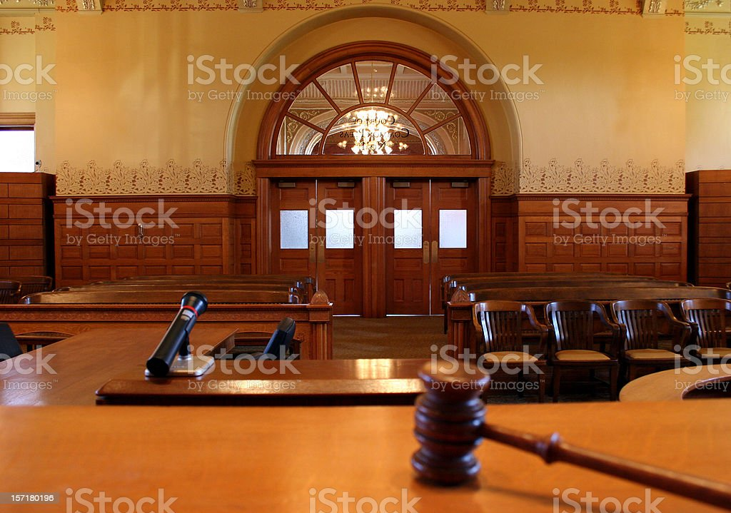 Courtroom 1 stock photo