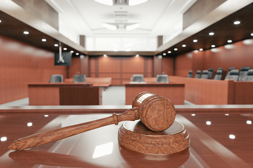 Courtroom And Gavel Stock Photo - Download Image Now