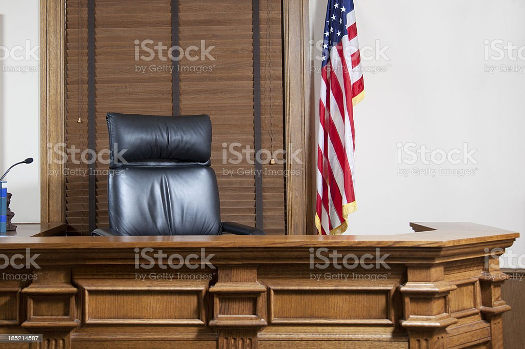 Courtroom Bench royalty-free stock photo