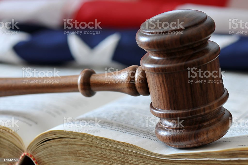 Courtroom Decisions stock photo