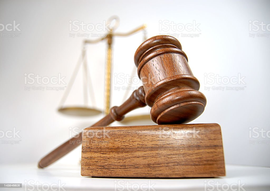 Courtroom detail stock photo
