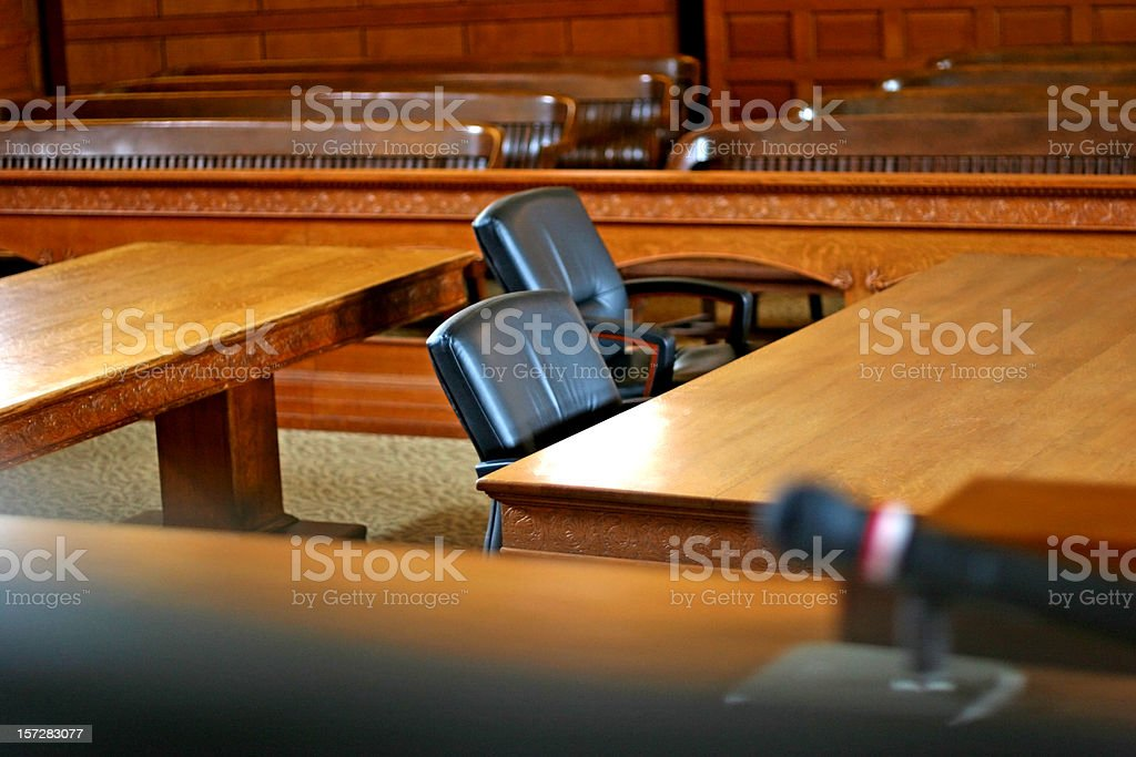 Courtroom royalty-free stock photo