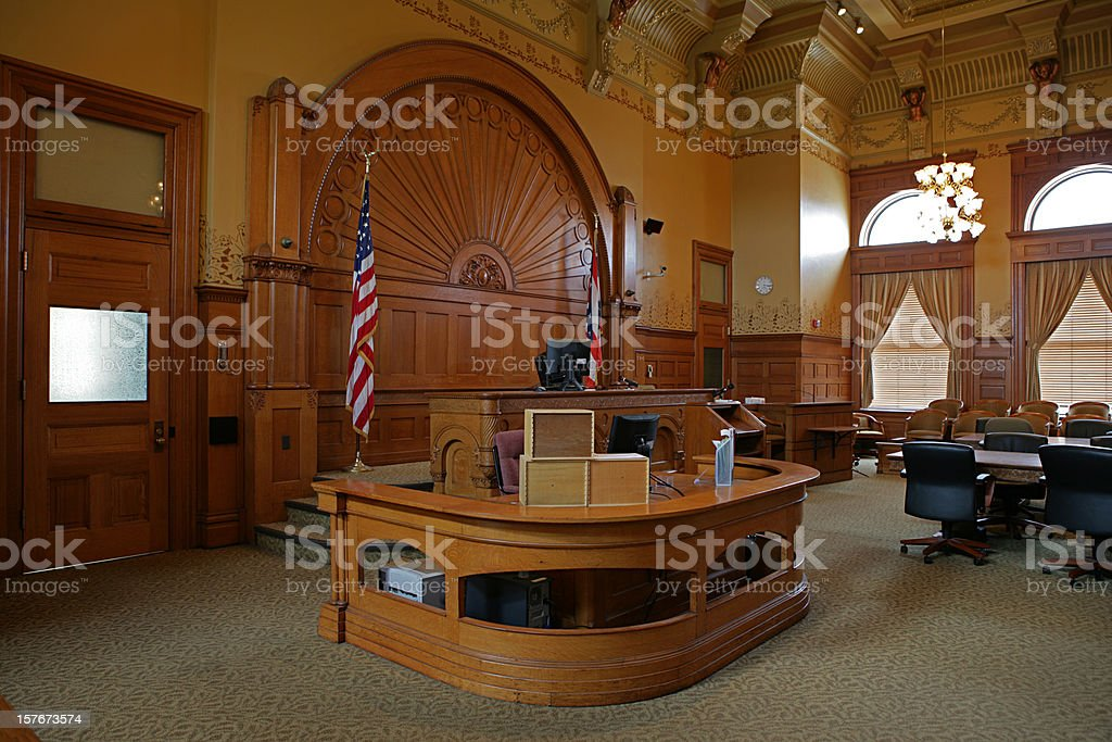 Courtroom stock photo