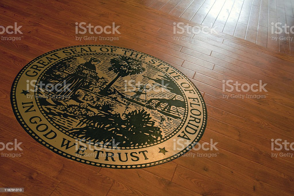 Courtroom Seal stock photo