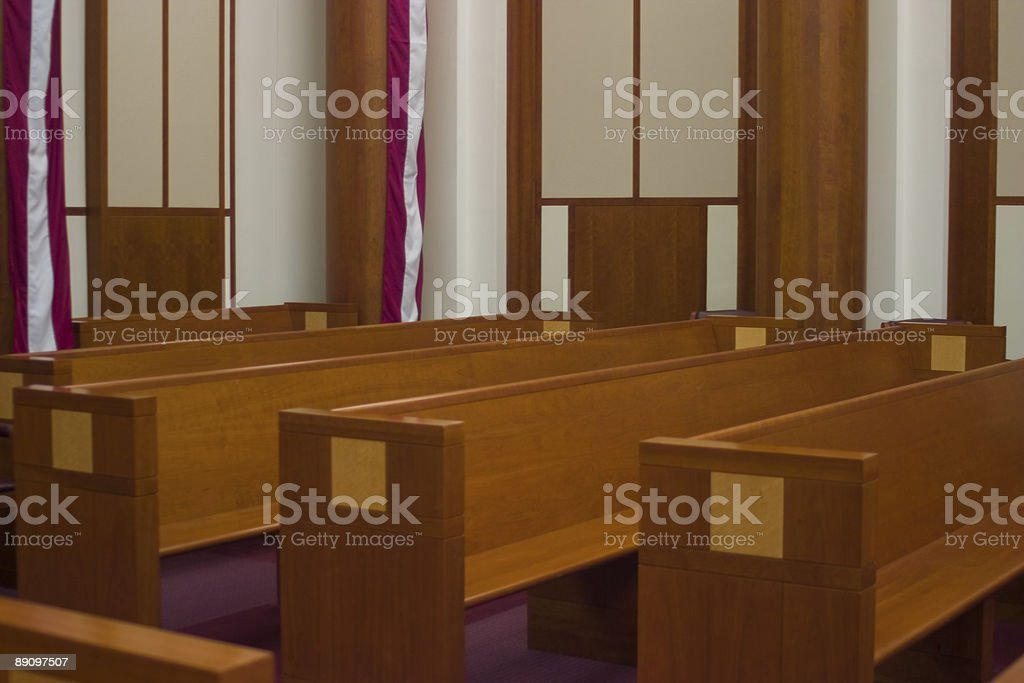 Courtroom Spectator royalty-free stock photo
