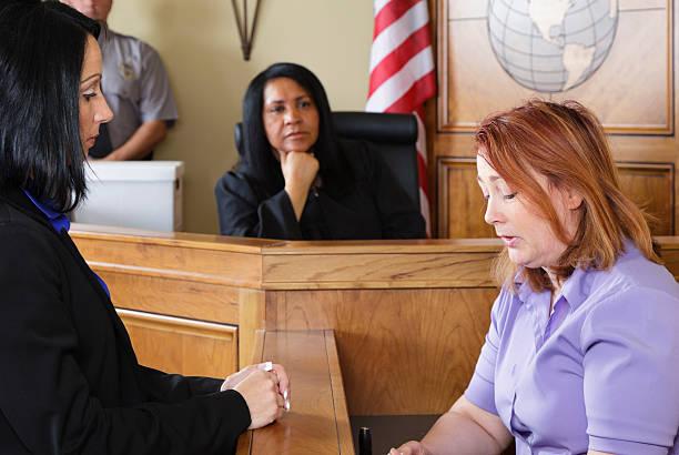 Aula di tribunale Testimone - foto stock