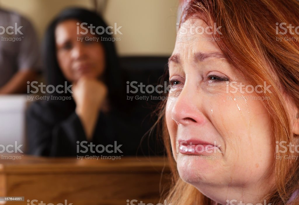 Courtroom Witness royalty-free stock photo