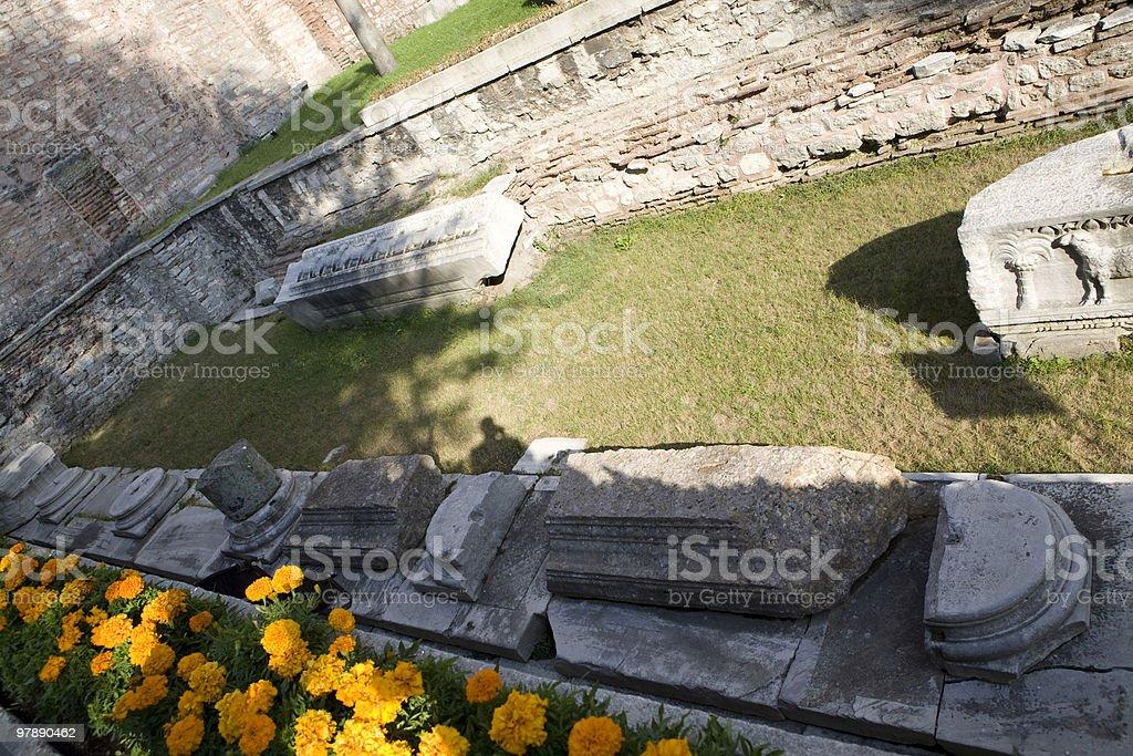 Courtyard at Hagia Sofia in Istanbul, Turkey royalty-free stock photo