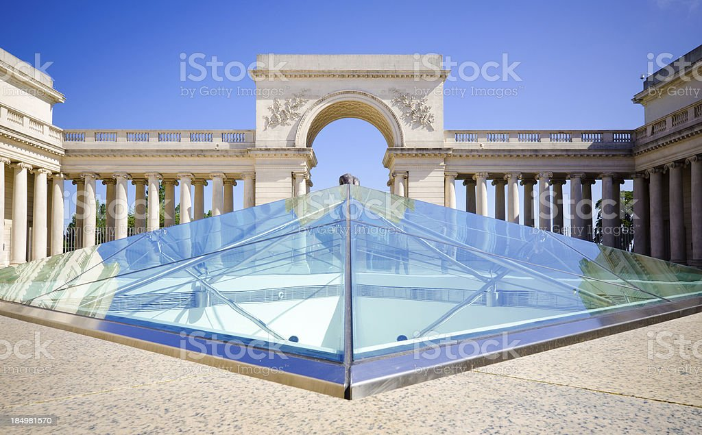 Courtyard at Legion of Honor in San Francisco, CA stock photo
