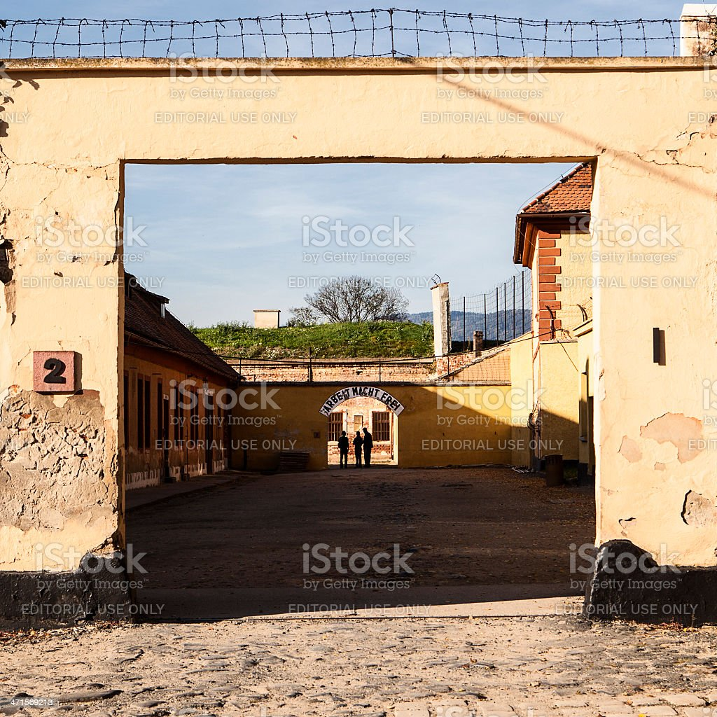Courtyard At Theresienstadt royalty-free stock photo