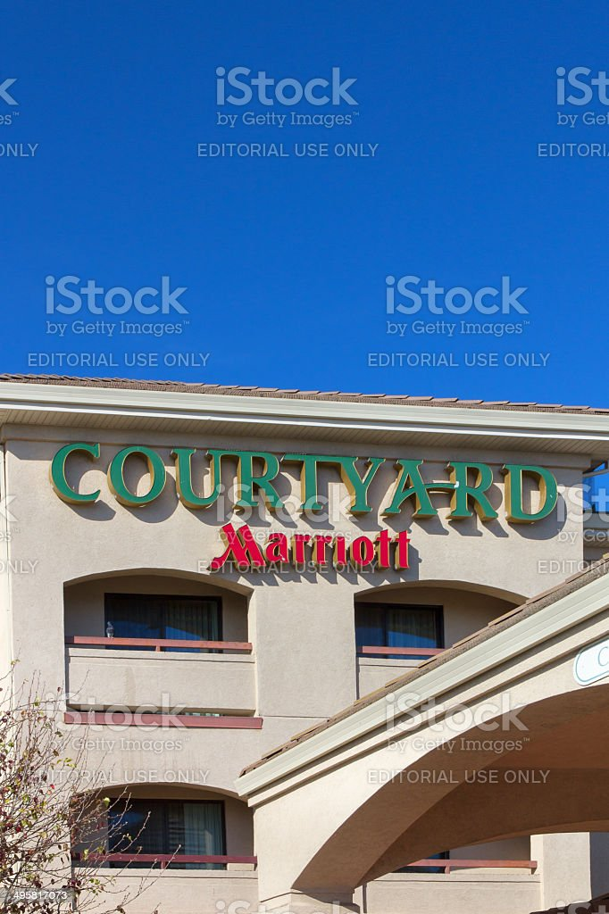 Courtyard by Marriot motel exterior royalty-free stock photo