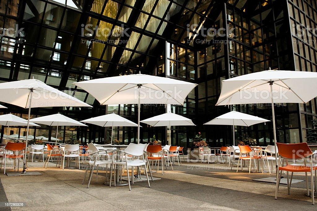Courtyard Cafe stock photo