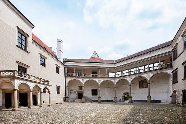 Courtyard castle in Telc, Tschechische Republik – Foto
