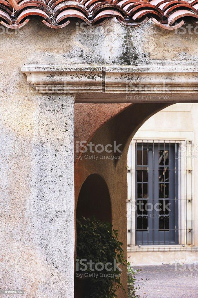 Courtyard Entrance Villa Architecture royalty-free stock photo