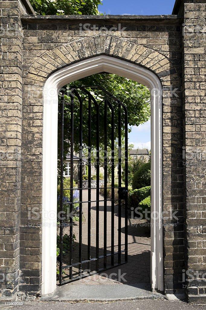 Courtyard gate stock photo