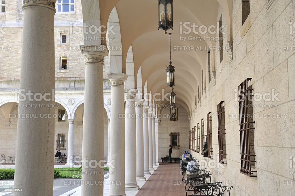 Courtyard in Boston Public Library royalty-free stock photo