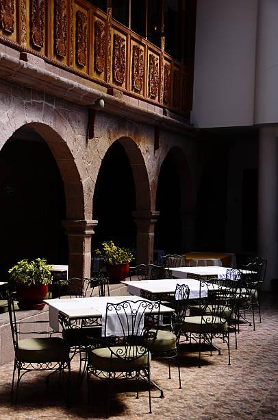 Courtyard in Cusco, Peru stock photo