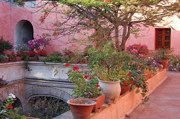 Courtyard in Oaxaca, Mexico