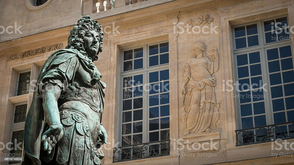 Courtyard in Paris stock photo