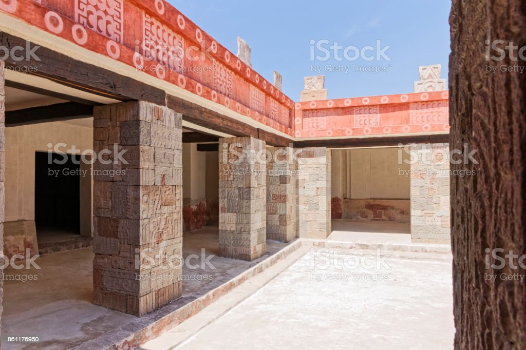Courtyard in Teotihuacan royalty-free stock photo