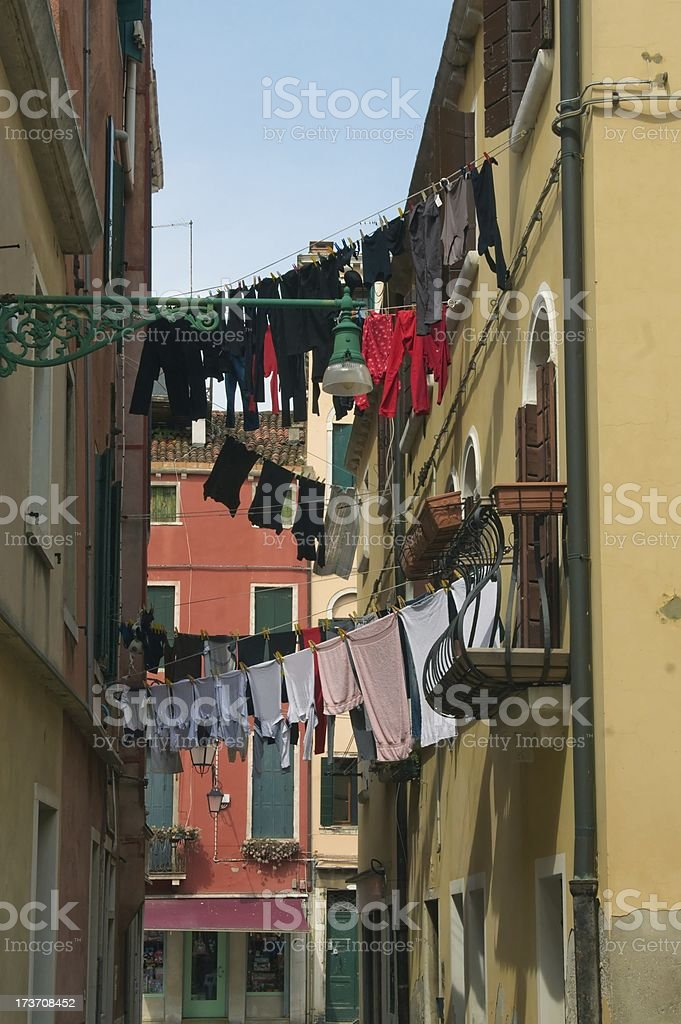 Courtyard in Venice royalty-free stock photo