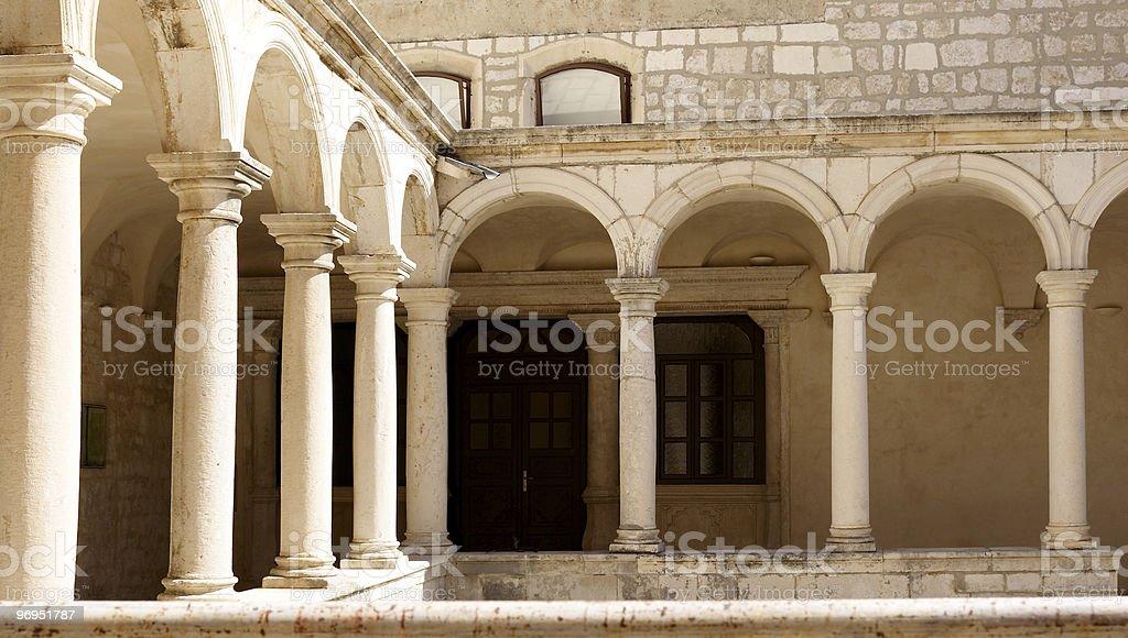Courtyard of a Temple. Zadar, Croatia royalty-free stock photo