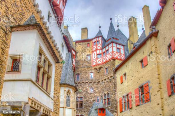 Courtyard Of Eltz Castle In Germany Stock Photo - Download Image Now