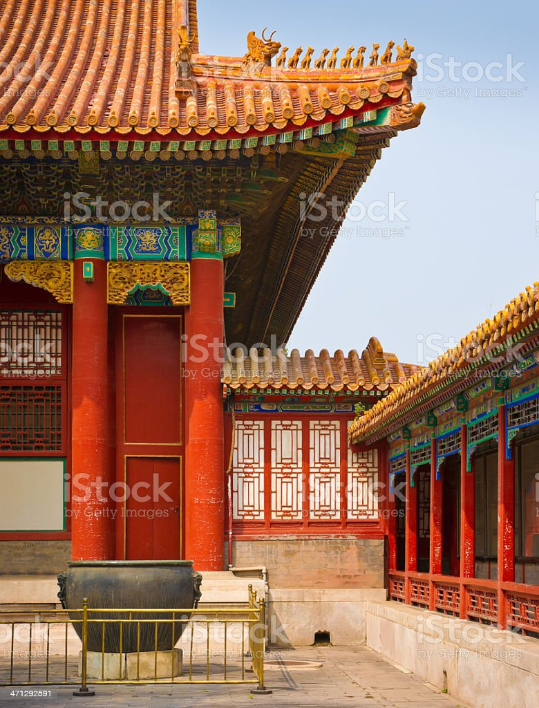 Courtyard of Forbidden City in Beijing, China royalty-free stock photo