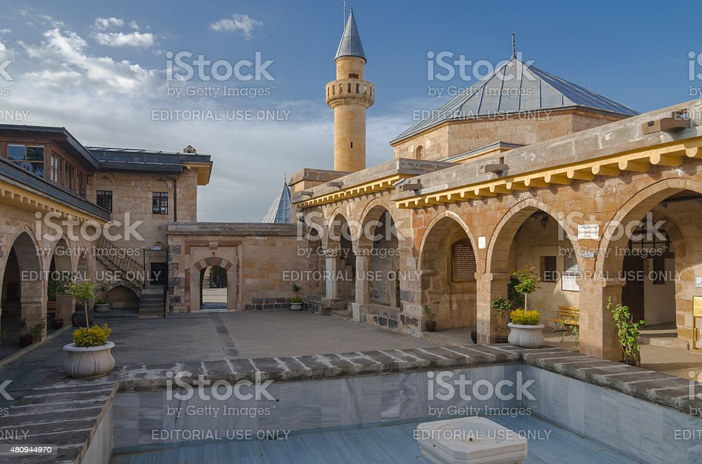 Courtyard of Haji Bektash Veli Tomb stock photo