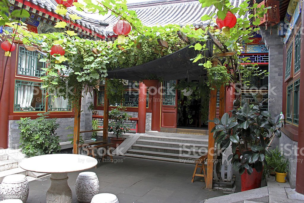 Courtyard of Hutong - Traditional Home Of Beijing stock photo