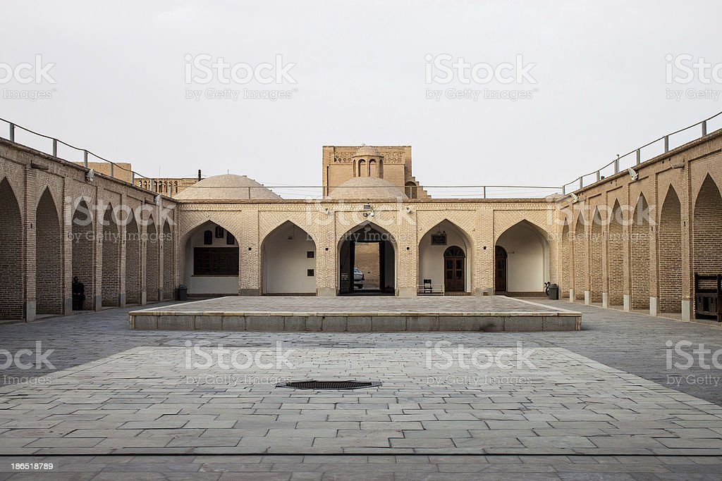 Courtyard of Jameh Mosque royalty-free stock photo
