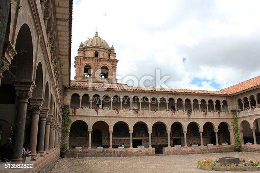 Courtyard at the Church of Santa Domingo, in Cuzco