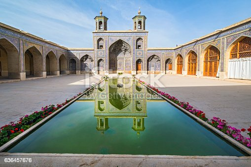 Courtyard inside the world famous  Nasir ol Molk Mosque (also