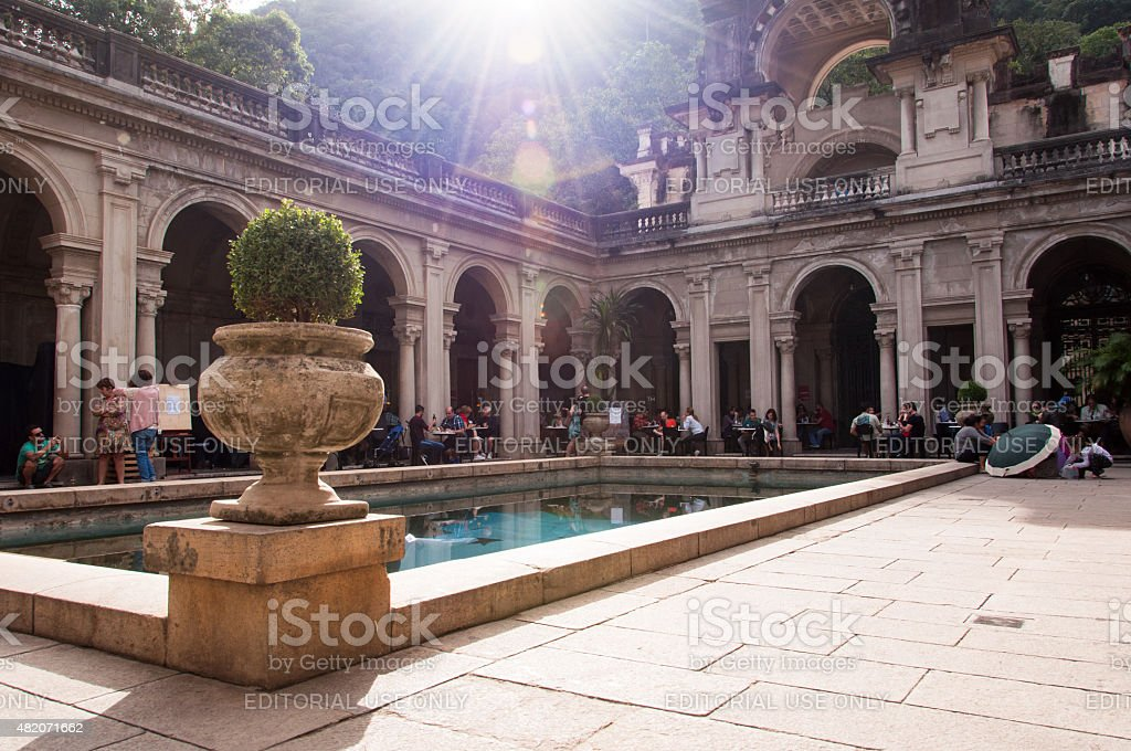 Courtyard of the Mansion stock photo