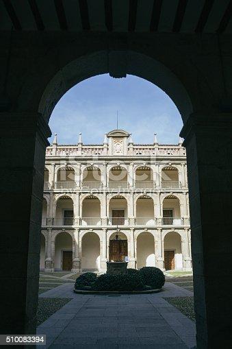 istock Courtyard of the University of Alcala de Henares 510083394