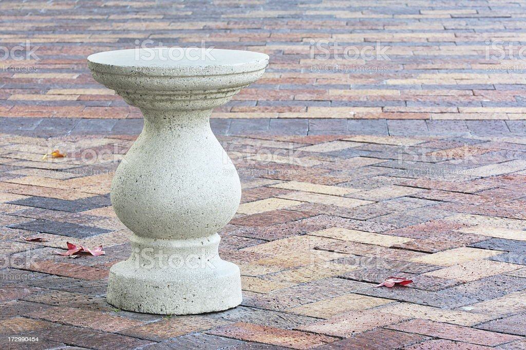 Courtyard Patio Stool Pavers royalty-free stock photo