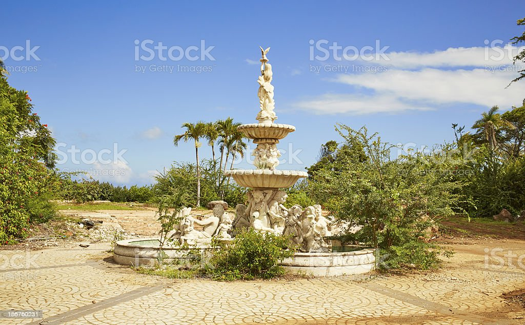 Courtyard With Fountain royalty-free stock photo
