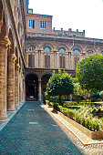 istock courtyard with trees and a fountain in the Doria Pamphili Gallery 1180082679