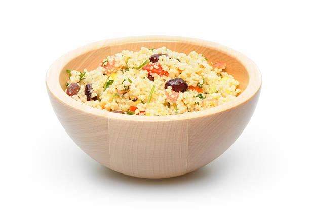 Couscous salad stock photo