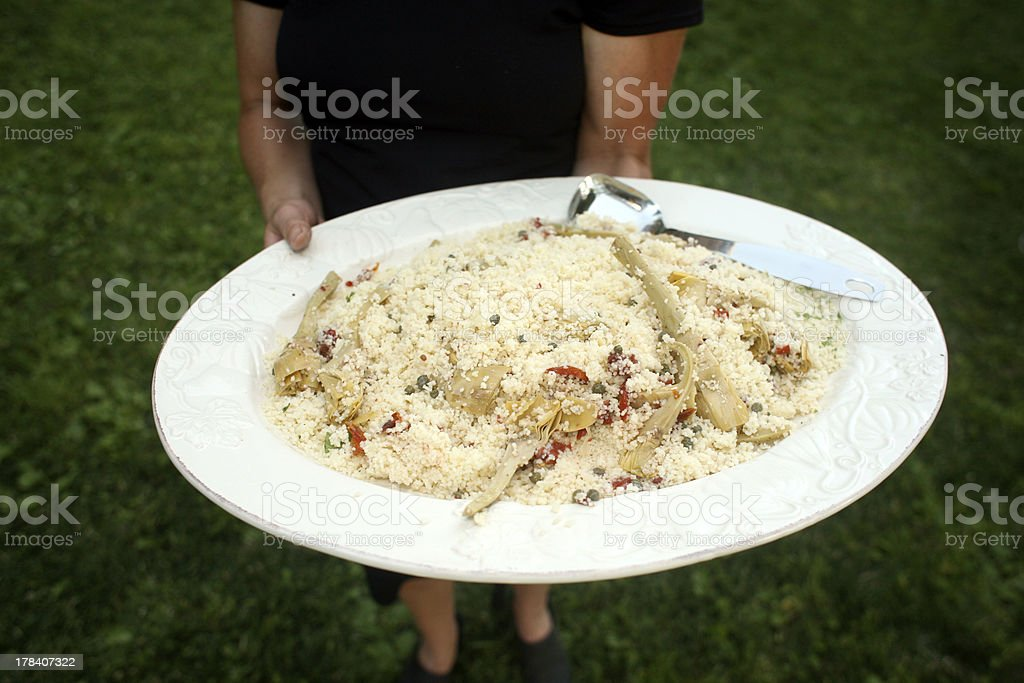 Couscous with Artichokes royalty-free stock photo