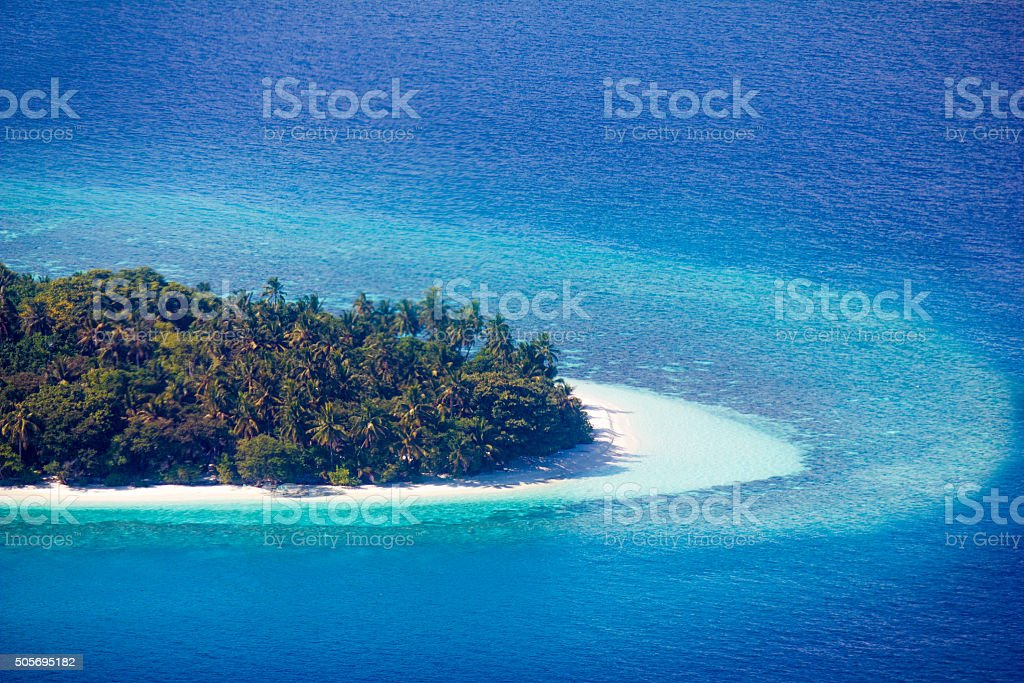 Cousine Island Seychelles - Areal view by drone stock photo